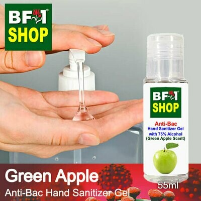 Anti-Bac Hand Sanitizer Gel with 75% Alcohol (ABHSG) - Apple - Green Apple - 55ml
