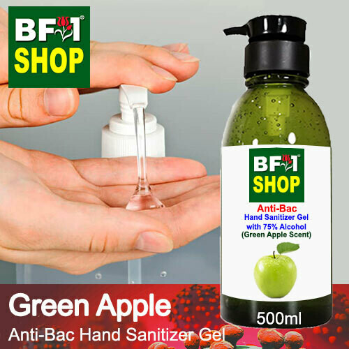 Anti-Bac Hand Sanitizer Gel with 75% Alcohol (ABHSG) - Apple - Green Apple - 500ml
