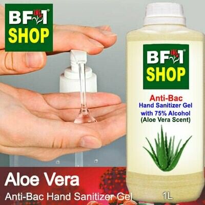 Anti-Bac Hand Sanitizer Gel with 75% Alcohol (ABHSG) - Aloe Vera - 1L