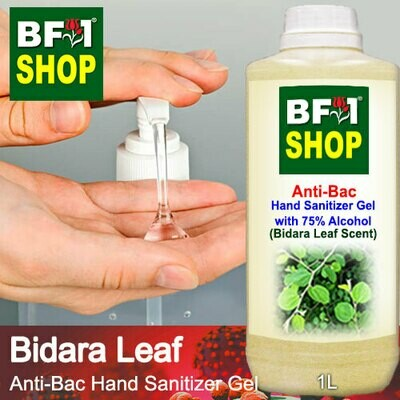 Anti-Bac Hand Sanitizer Gel with 75% Alcohol (ABHSG) - Bidara Leaf - 1L