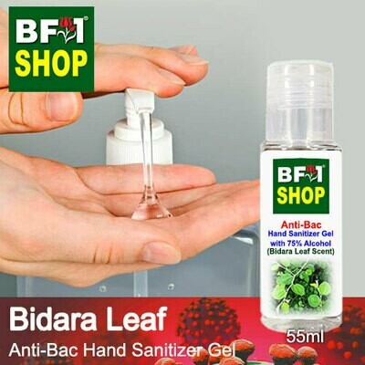 Anti-Bac Hand Sanitizer Gel with 75% Alcohol (ABHSG) - Bidara Leaf - 55ml