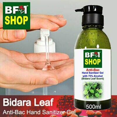 Anti-Bac Hand Sanitizer Gel with 75% Alcohol (ABHSG) - Bidara Leaf - 500ml