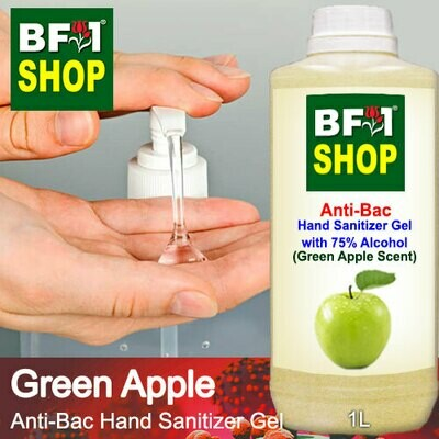 Anti-Bac Hand Sanitizer Gel with 75% Alcohol (ABHSG) - Apple - Green Apple - 1L
