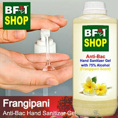 Anti-Bac Hand Sanitizer Gel with 75% Alcohol (ABHSG) - Frangipani - 1L