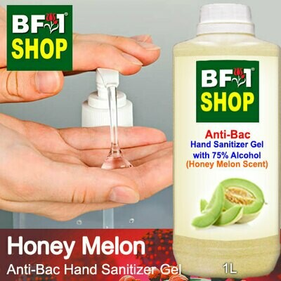 Anti-Bac Hand Sanitizer Gel with 75% Alcohol (ABHSG) - Honey Melon - 1L