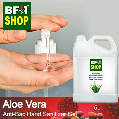 Anti-Bac Hand Sanitizer Gel with 75% Alcohol (ABHSG) - Aloe Vera - 5L