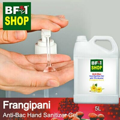 Anti-Bac Hand Sanitizer Gel with 75% Alcohol (ABHSG) - Frangipani - 5L