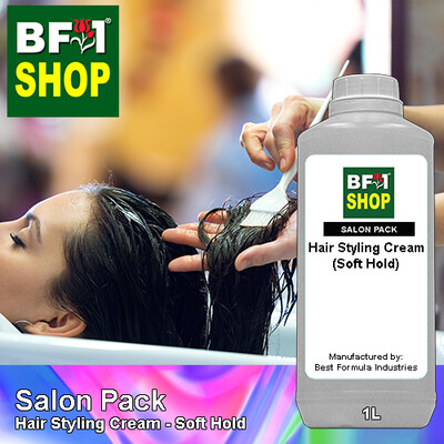 Salon Pack - Hair Styling Cream - Soft Hold - 1L