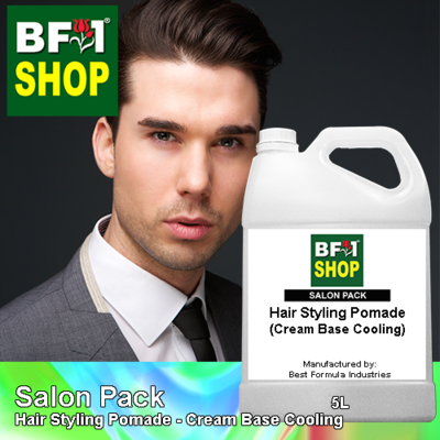 Salon Pack - Hair Styling Pomade - Cream Base Cooling - 5L