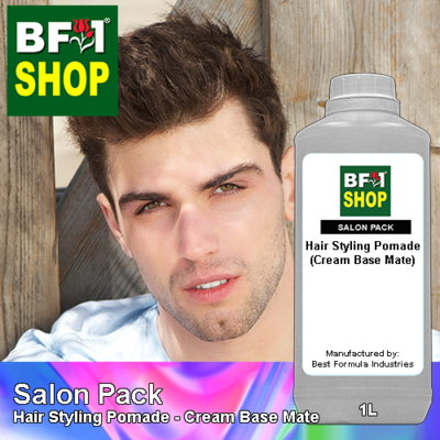 Salon Pack - Hair Styling Pomade - Cream Base Mate - 1L
