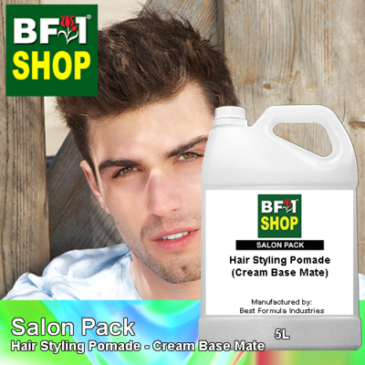 Salon Pack - Hair Styling Pomade - Cream Base Mate - 5L