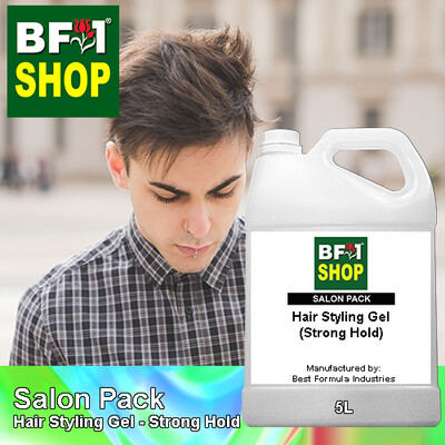 Salon Pack - Hair Styling Gel - Strong Hold - 5L
