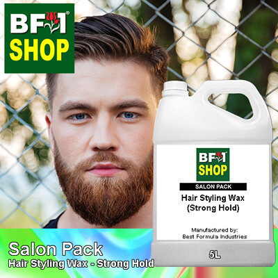 Salon Pack - Hair Styling Wax - Strong Hold - 5L