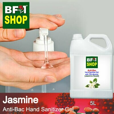 Anti-Bac Hand Sanitizer Gel with 75% Alcohol (ABHSG) - Jasmine - 5L