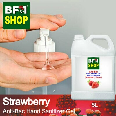 Anti-Bac Hand Sanitizer Gel with 75% Alcohol (ABHSG) - Strawberry - 5L