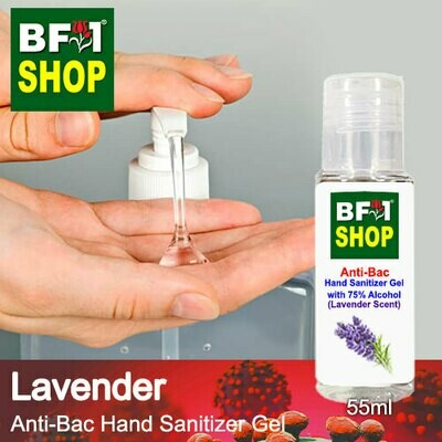 Anti-Bac Hand Sanitizer Gel with 75% Alcohol (ABHSG) - Lavender - 55ml