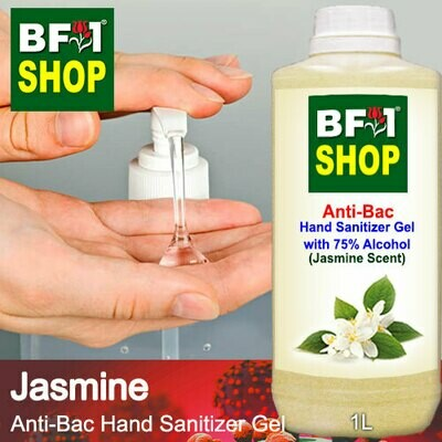 Anti-Bac Hand Sanitizer Gel with 75% Alcohol (ABHSG) - Jasmine - 1L