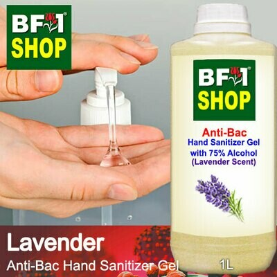 Anti-Bac Hand Sanitizer Gel with 75% Alcohol (ABHSG) - Lavender - 1L