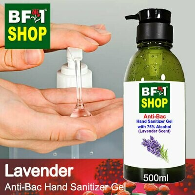Anti-Bac Hand Sanitizer Gel with 75% Alcohol (ABHSG) - Lavender - 500ml