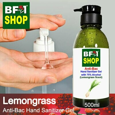 Anti-Bac Hand Sanitizer Gel with 75% Alcohol (ABHSG) - Lemongrass - 500ml