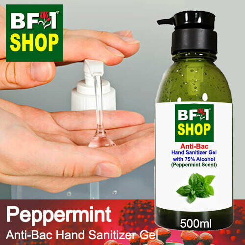 Anti-Bac Hand Sanitizer Gel with 75% Alcohol (ABHSG) - mint - Peppermint - 500ml