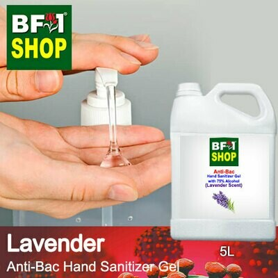 Anti-Bac Hand Sanitizer Gel with 75% Alcohol (ABHSG) - Lavender - 5L