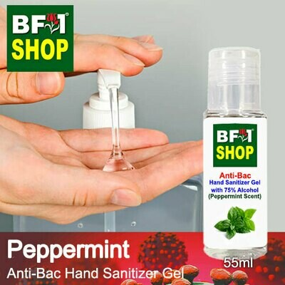 Anti-Bac Hand Sanitizer Gel with 75% Alcohol (ABHSG) - mint -  Peppermint - 55ml
