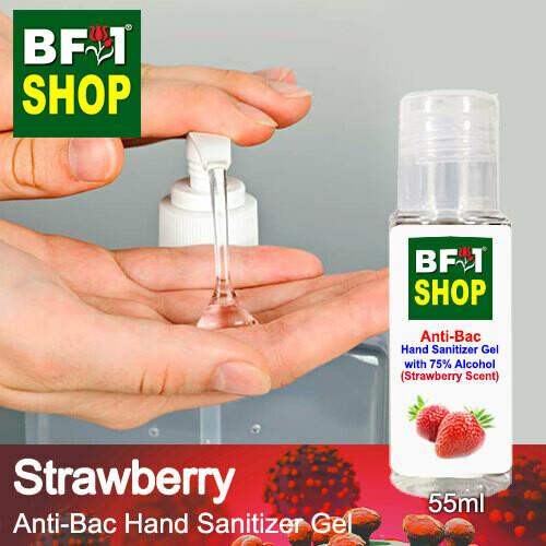 Anti-Bac Hand Sanitizer Gel with 75% Alcohol (ABHSG) - Strawberry - 55ml