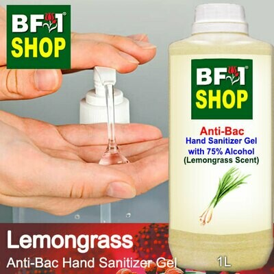 Anti-Bac Hand Sanitizer Gel with 75% Alcohol (ABHSG) - Lemongrass - 1L