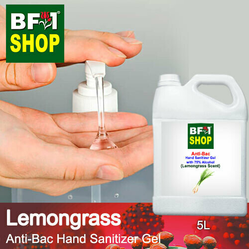 Anti-Bac Hand Sanitizer Gel with 75% Alcohol (ABHSG) - Lemongrass - 5L