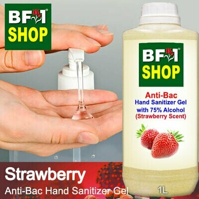 Anti-Bac Hand Sanitizer Gel with 75% Alcohol (ABHSG) - Strawberry - 1L