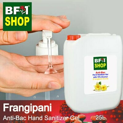 Anti-Bac Hand Sanitizer Gel with 75% Alcohol (ABHSG) - Frangipani - 25L