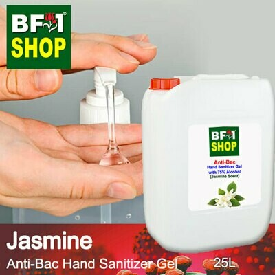 Anti-Bac Hand Sanitizer Gel with 75% Alcohol (ABHSG) - Jasmine - 25L