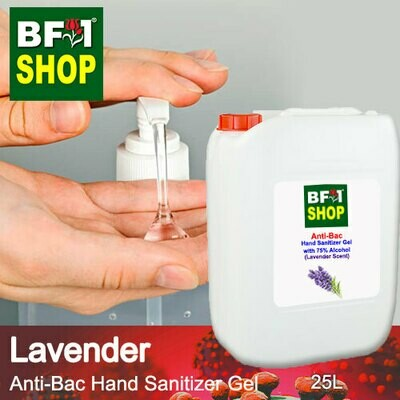 Anti-Bac Hand Sanitizer Gel with 75% Alcohol (ABHSG) - Lavender - 25L