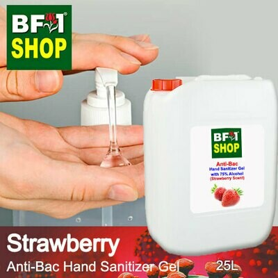 Anti-Bac Hand Sanitizer Gel with 75% Alcohol (ABHSG) - Strawberry - 25L