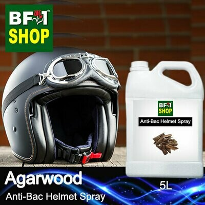 Anti-Bac Helmet Spray (ABHS1) - Agarwood - 5L