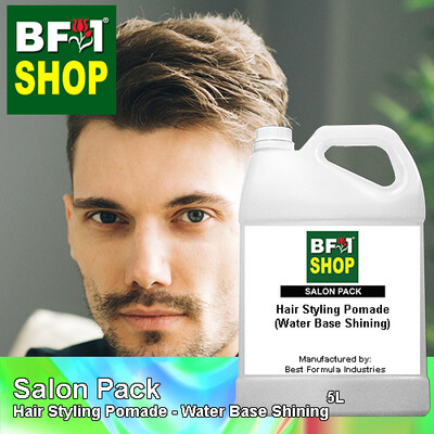 Salon Pack - Hair Styling Pomade - Water Base Shining - 5L