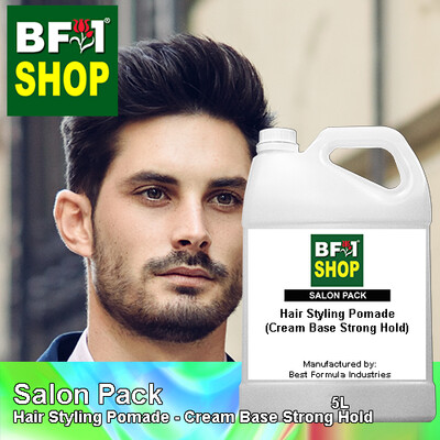 Salon Pack - Hair Styling Pomade - Cream Base Strong Hold - 5L