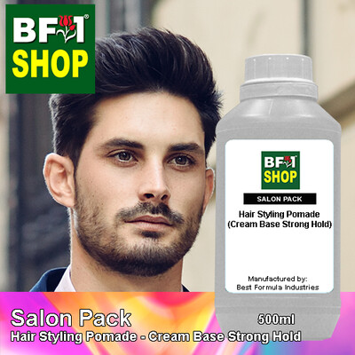Salon Pack - Hair Styling Pomade - Cream Base Strong Hold - 500ml