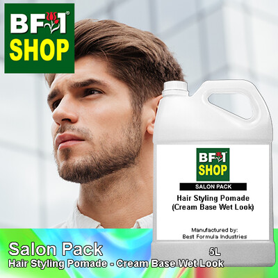 Salon Pack - Hair Styling Pomade - Cream Base Wet Look - 5L
