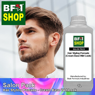 Salon Pack - Hair Styling Pomade - Cream Base Wet Look - 1L