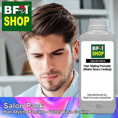 Salon Pack - Hair Styling Pomade - Water Base Cooling - 1L