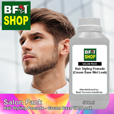 Salon Pack - Hair Styling Pomade - Cream Base Wet Look - 500ml