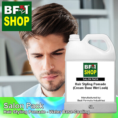 Salon Pack - Hair Styling Pomade - Water Base Cooling - 5L