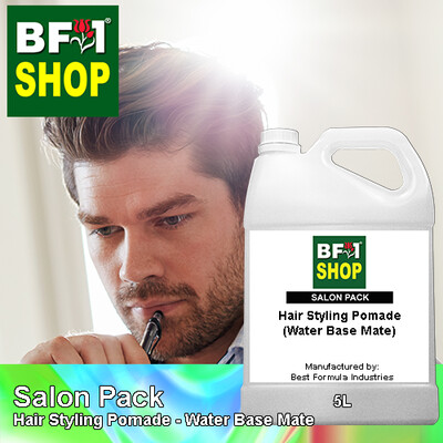 Salon Pack - Hair Styling Pomade - Water Base Mate - 5L