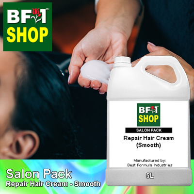 Salon Pack - Repair Hair Cream - Smooth - 5L