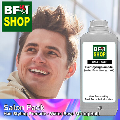 Salon Pack - Hair Styling Pomade - Water Base Strong Hold - 1L