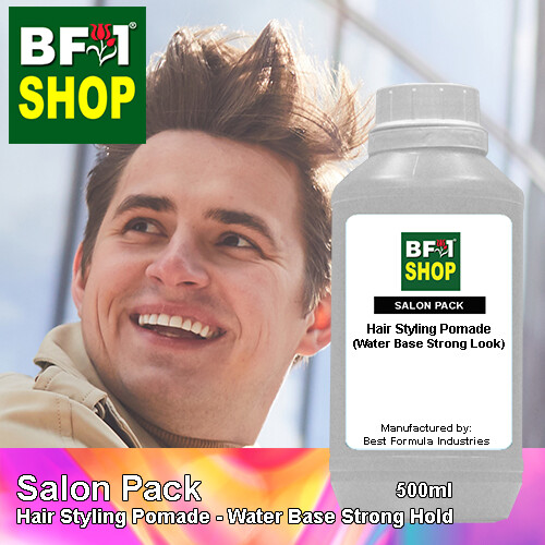 Salon Pack - Hair Styling Pomade - Water Base Strong Hold - 500ml
