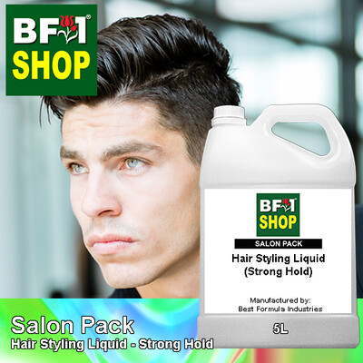 Salon Pack - Hair Styling Liquid - Strong Hold - 5L
