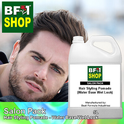 Salon Pack - Hair Styling Pomade - Water Base Wet Look - 5L